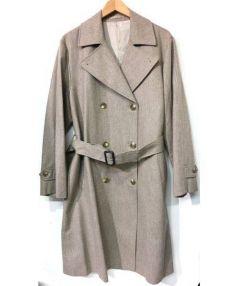 MARGARET HOWELL(マーガレットハウエル)の古着「ウールトレンチコート」 ベージュ