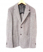TOMORROWLAND(トゥモローランド)の古着「ハリスツイードジャケット」|グレー