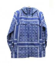 DELUXE(デラックス)の古着「バンダナマウンテンパーカー」 ブルー