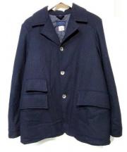 CORONA(コロナ)の古着「裏キルティングウールジャケット」 ネイビー
