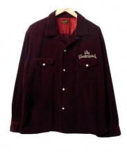 TENDERLOIN(テンダーロイン)の古着「コーデュロイウエスタンシャツ」|ボルドー