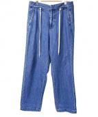 .efiLevol(エフィレボル)の古着「USEDワイドデニムパンツ」|インディゴ