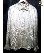 ANN DEMEULEMEESTER(アンドゥムルメステール)の古着「サテンシャツ」|ゴールド