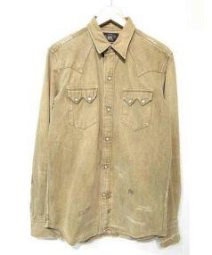 RRL(ダブルアールエル)の古着「ダメージ加工ウエスタンシャツ」|ベージュ