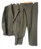 nest Robe(ネストローブ)の古着「High Count Cotton Twill Set Up」|オリーブグリーン