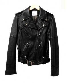 Roen(ロエン)の古着「ディアスキンライダースジャケット」|ブラック