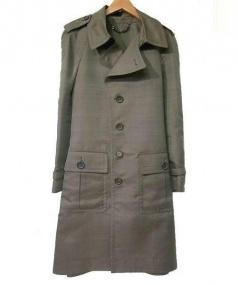 BURBERRY(バーバリー)の古着「ネップシルクトレンチコート」|ブラウン