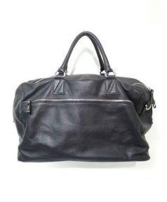ZANELLATO(ザネラート)の古着「2WAYレザーボストンバッグ」|ブラック
