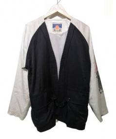 blackmeans(ブラックミーンズ)の古着「半纏スカジャン」 ブラック
