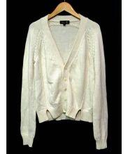 Drawer(ドゥロワー)の古着「コットンカシミヤカーディガン」 ベージュ