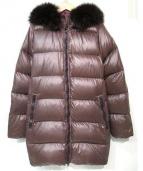 DUVETICA(デュベティカ)の古着「kappaダウンコート」|ブラウン×パープル