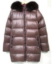 DUVETICA(デュベティカ)の古着「kappaダウンコート」 ブラウン×パープル