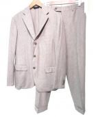 Belvest(ベルベスト)の古着「シルクウールセットアップスーツ」|ベージュ