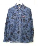 Hysteric Glamour(ヒステリックグラマー)の古着「プリントワークシャツ」|インディゴ