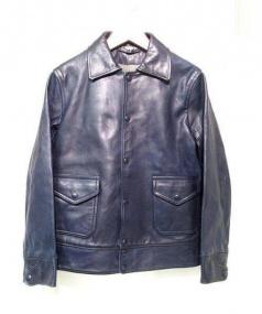 45rpm(45アールピーエム)の古着「藍染レザージャケット」|ネイビー