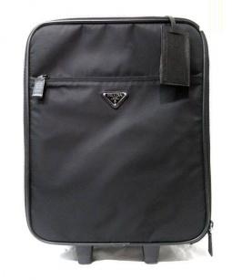 PRADA(プラダ)の古着「ナイロンレザーキャリーバッグ」|ブラック