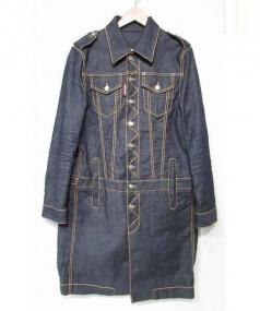 DSQUARED2(ディースクエアード)の古着「デニムトラッカーコート」 ブルー