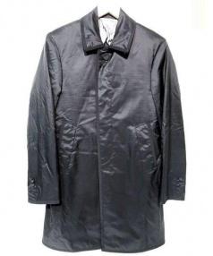 THOM BROWNE(トム ブラウン)の古着「リップストップナイロンバルカラーコート」|ブラック