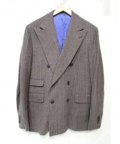 GABRIELE PASINI(ガブリエレ パジーニ)の古着「ジャケット・ベストセット」|ブラウン×グレー
