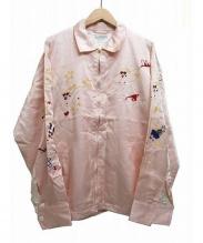 FLAGSTUFF(フラッグスタッフ)の古着「VIETNAM JKT STAR」 ピンク