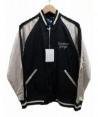 FLAGSTUFF(フラッグスタッフ)の古着「SOUVENIR JKT HABANA GANGS」|ネイビー×ホワイト