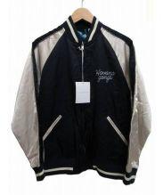 FLAGSTUFF(フラッグスタッフ)の古着「SOUVENIR JKT HABANA GANGS」 ネイビー×ホワイト