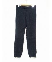 sacai(サカイ)の古着「ツイードウールリブパンツ」|ネイビー