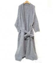 BLACK by moussy(ブラック バイ マウジー)の古着「モヘヤニットコート」|グレー