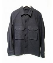 LEMAIRE(ルメール)の古着「ボックスウールシャツジャケット」 グレー