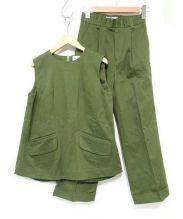 The Dayz tokyo(ザ デイズ トウキョウ)の古着「コットンストレッチセットアップ」|グリーン