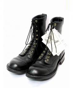 WHITES BOOTS(ホワイツ ブーツ)の古着「スポークジャンパーレースアップブーツ」|ブラック