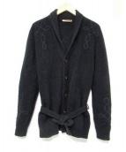 nuur(ヌール)の古着「刺繍ローブカーディガン」|ブラック