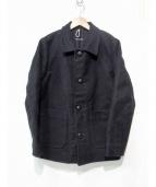 FRANK LEDER(フランクリーダー)の古着「ジャーマンレザーワークジャケット」|ブラック
