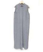 REKISAMI(レキサミ)の古着「プリーツノースリーブワンピース」|グレー