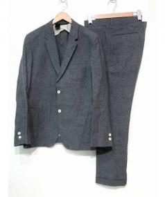 N.HOOLYWOOD for RON HERMAN(エヌハリウッド フォー ロンハーマン)の古着「3Pリネンセットアップ スーツ」|グレー