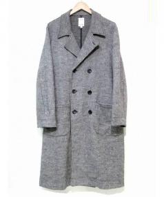 THE NERDYS(ナーディーズ)の古着「ロングウールダブルコート」|グレー