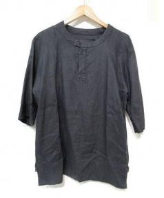 PHOEBE ENGLISH(フィービーイングリッシュ)の古着「ブラクリネンバンドカラープルオーバー」|ブラック