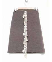 mina perhonen(ミナペルフォネンミナ)の古着「刺繍モチーフスカートスカート」|ブラウン