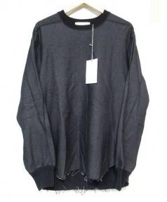 LOWLOOM(ロールーム)の古着「カットオフスウェットシャツ」|ブラック