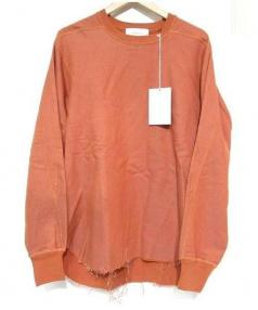 LOWLOOM(ロールーム)の古着「カットオフスウェットシャツ」|オレンジ