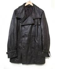 ck Calvin Klein(シーケーカルバンクライン)の古着「ラムレザートレンチコート」 ブラウン