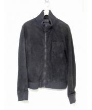 HELMUT LANG(ヘルムートラング)の古着「スウェードスポーツジャケット」 ブラック