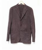 Cantarelli(カンタレリ)の古着「ウォッシュドリネン混ジャケット」|ブラウン