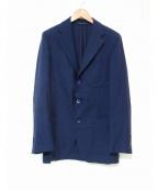 Belvest(ベルベスト)の古着「ウールリネン3Bジャケット」|ネイビー