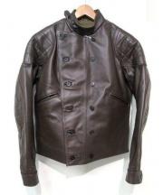 Lewis Leathers(ルイスレザー)の古着「Universal Racerライダースジャケット」|ブラウン