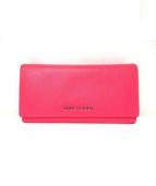 SAINTLAURENT(サンローラン)の古着「エナメル長財布」|ピンク