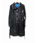 VIVIENNE TAM(ヴィヴィアンタム)の古着「デザインレザーコート」|ブラック