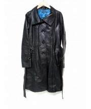 VIVIENNE TAM(ヴィヴィアンタム)の古着「デザインレザーコート」 ブラック