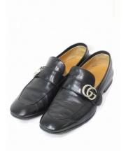GUCCI(グッチ)の古着「GG金具ローファー」|ブラック