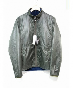 Battenwear(バテンウエア)の古着「リバーシブルフリースナイロンジャケット」|オリーブ×ネイビー